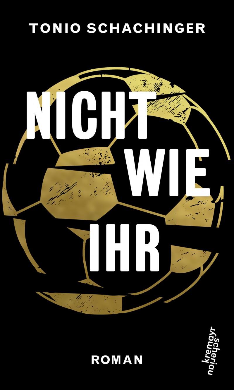 Goldener Fußball auf schwarzen Hintergrund.
