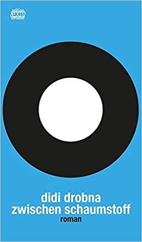 Weißer Kreis auf schwarzem Kreis auf blauem Hintergrund.